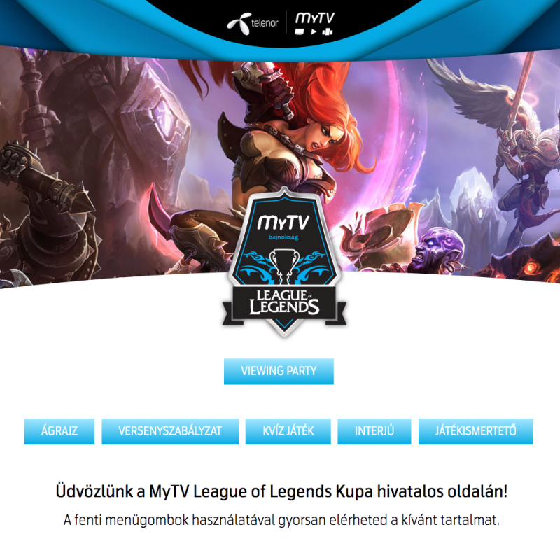 MyTV League of Legends Kupa
